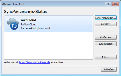 ownCloud-Client Sync-Übersicht 2