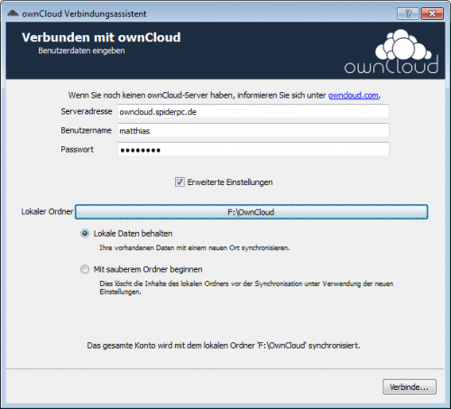 ownCloud-Client Windows Installation 1