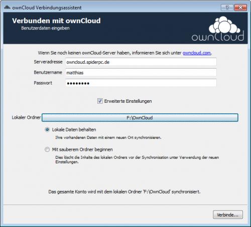 ownCloud-Client Windows Installation 1