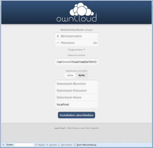 ownCloud-Server Einrichtung