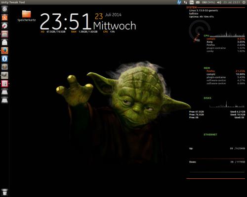 unity desktop starter transparentes schwarz